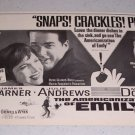 1964 Movie Ad THE AMERICANIZATION OF EMILY Celebrity James Garner Julie Andrews
