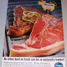 1963 Kroger Tenderay Beef Color Print Ad