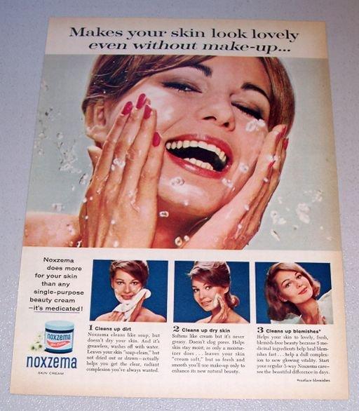 1963 Noxzema Skin Cream Color Print Ad