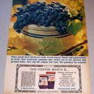 1963 Kraft Concord Grape Jelly Color Print Ad