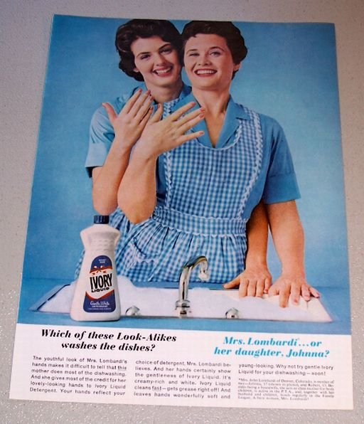 1962 Ivory Dish Liquid Johnna Lombardi Denver Colorado Color Print Ad