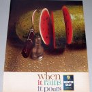 1961 Morton Salt Watermelon Color Print Ad