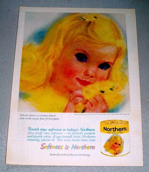 1961 Northern Pale Gold Bath Tissue Color Print Ad
