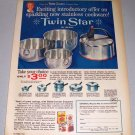 1961 Betty Crocker Regal Twin Star Stainless Cookware Color Print Ad