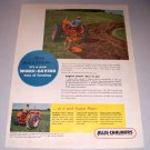 1952 Allis Chalmers WD Farm Tractor Color Print Ad