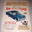 1952 Color Print Ad for 1953 Dodge Coronet Automobile