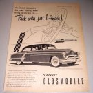 1952 Oldsmobile Super 88 Sedan Automobile Print Ad