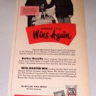 1952 Master Mix Feeds Durand FFA Roy Wallis Print Ad