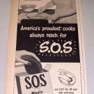 1952 SOS Scouring Pads Mrs Harry Bowra Albuquerque New Mexico Print Ad