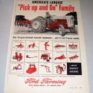 1956 Ford Model 860 Farm Tractor Print Ad