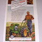 1952 Bolens Power Ho Deluxe Garden Tractor Color Print Ad