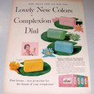 1957 Dial Soap Color Print Ad Lovely New Colors