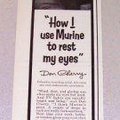 1957 Murine Eye Drops Print Ad Celebrity Don Cherry