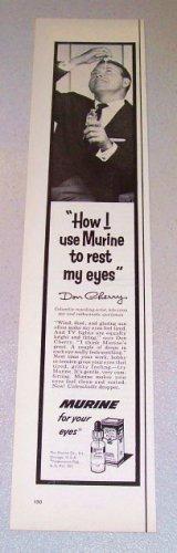 1957 Murine Eye Drops Print Ad Celebrity Don Cherry