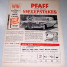1957 PFAFF 332 Sewing Machine 1958 Edsel Station Wagon Sweepstakes Print Ad