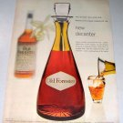 1955 Old Forester Bourbon Whiskey Decanter Color Print Ad