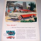 1956 Chevrolet 2 Door Sedan Automobile Color Art Print Ad