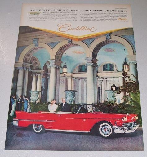 1958 Cadillac Convertible THE BREAKERS Color Print Car Ad