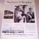 1958 Union Oil Company Print Ad Bill Bewley Bob Switzer