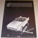 1961 Rootes Sunbeam Alpine Automobile Print Car Ad