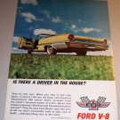 1961 Ford Galaxie Convertible Automobile Color Print Car Ad