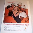 Viceroy Cigarettes Lifeguards 1962 Color Print Tobacco Ad