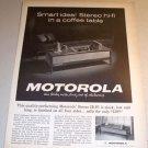 Motorola SK100 Stereo HI-FI 1962 Print Ad