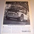 1962 Triumph TR-4 Convertible Sports Car Automobile Print Ad