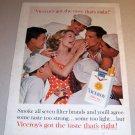 Viceroy Cigarettes 1962 Color Print Tobacco Ad