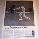 New England Life Insurance Tennis Big Bill Tilden 1962 Print Ad