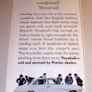 1962 Vauxhall Victor Super Automobile Print Car Ad