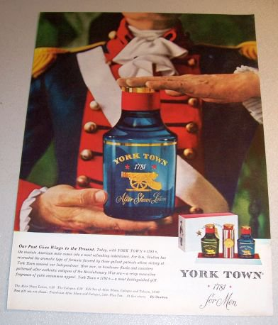 York Town After Shave Lotion 1962 Color Print Ad