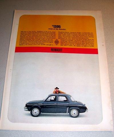 1962 Renault Dauphine Automobile Print Car Ad