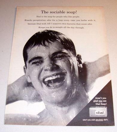 Dial Soap 1962 Print Ad The Sociable Soap