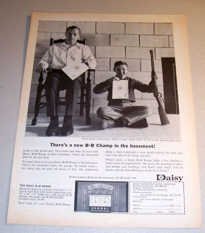 1963 Daisy BB Gun Spittin Image Model 1894 Print Ad