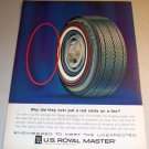 1963 US Royal Master Tires Color Print Ad