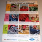 1963 Ford Motor Company Color Collage Print Car Ad