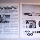1963 Goodyear Tires Print Ad Spirit of America J-47 Jet