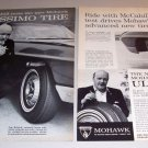 1963 Mohawk Ultissimo Tires Print Ad Tom McCahill