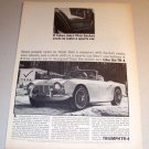 1963 Triumph TR-4 Sports Car Automobile Print Ad