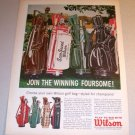 1963 Wilson Sam Snead Golf Bags Color Print Ad