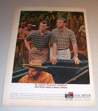 1963 Dan River Shirts Pilgrams Indians Color Print Ad