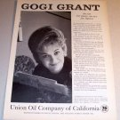 1963 Union Oil 76 California Print Ad Celebrity Gori Grant