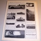 1963 Austin Healey 3000 MK II Convertible Automobile Print Car Ad