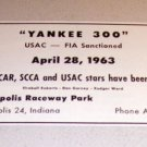1963 Yankee 300 USAC FIA Race Indianapolis Raceway Park Print Ad