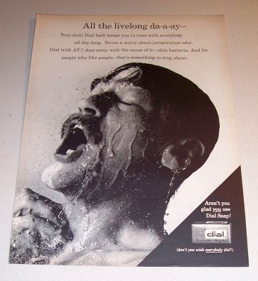 Dial Soap 1962 Print Ad All The Live Long Da-a-ay