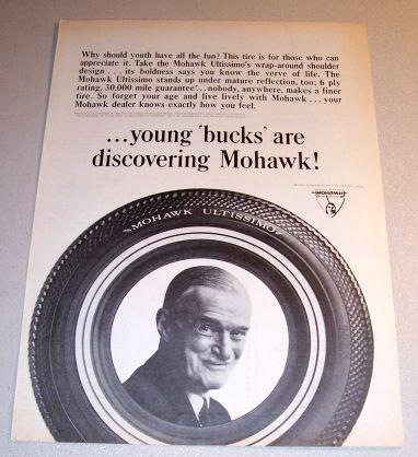 1964 Mohawk Ultissimo Tires Print Ad