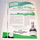 1965 Old Smuggler Blended Whiskey Country Club Golf Art Print Ad
