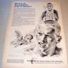 1965 Equitable Life Insurance Olympics George Loh Sketch Art Print Ad