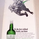 1965 Ushers Green Stripe Whiskey Print Ad Tiffany Eubank